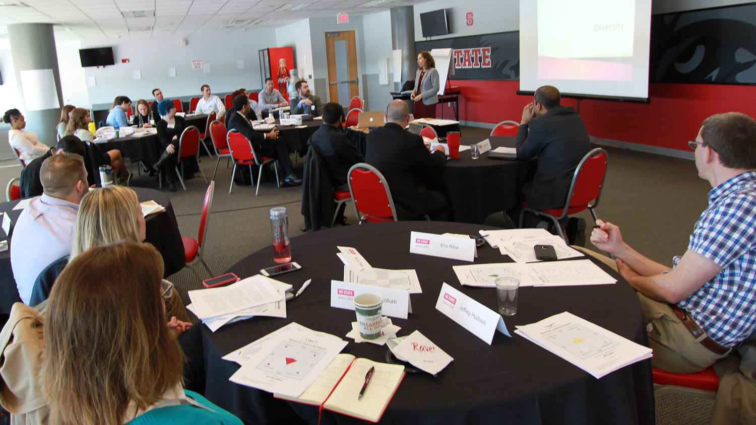 NCState Jenkins MBA students at a Residency #2 session, on people management.